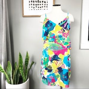 J.Crew Factory floral spaghetti strap dress 8